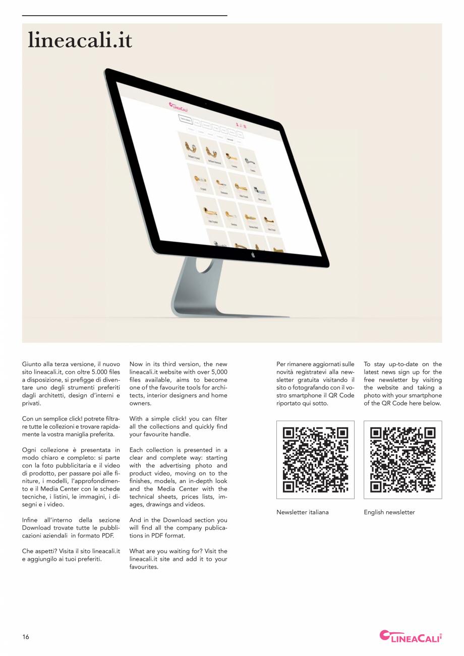 Pagina 18 - Catalog Linea CALI 2019 DALI BUSINESS Catalog, brosura Engleza, Italiana  body WIPO that...
