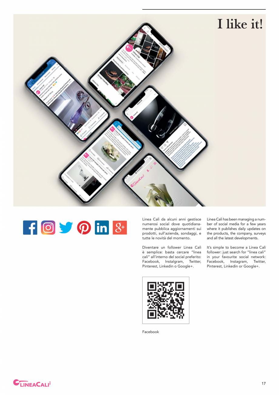 Pagina 19 - Catalog Linea CALI 2019 DALI BUSINESS Catalog, brosura Engleza, Italiana enza pari a...