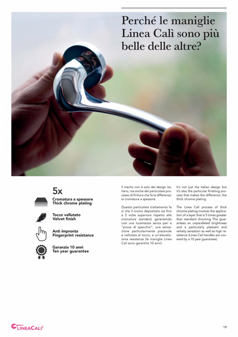 Pagina 21 - Catalog Linea CALI 2019 DALI BUSINESS Catalog, brosura Engleza, Italiana ire la...