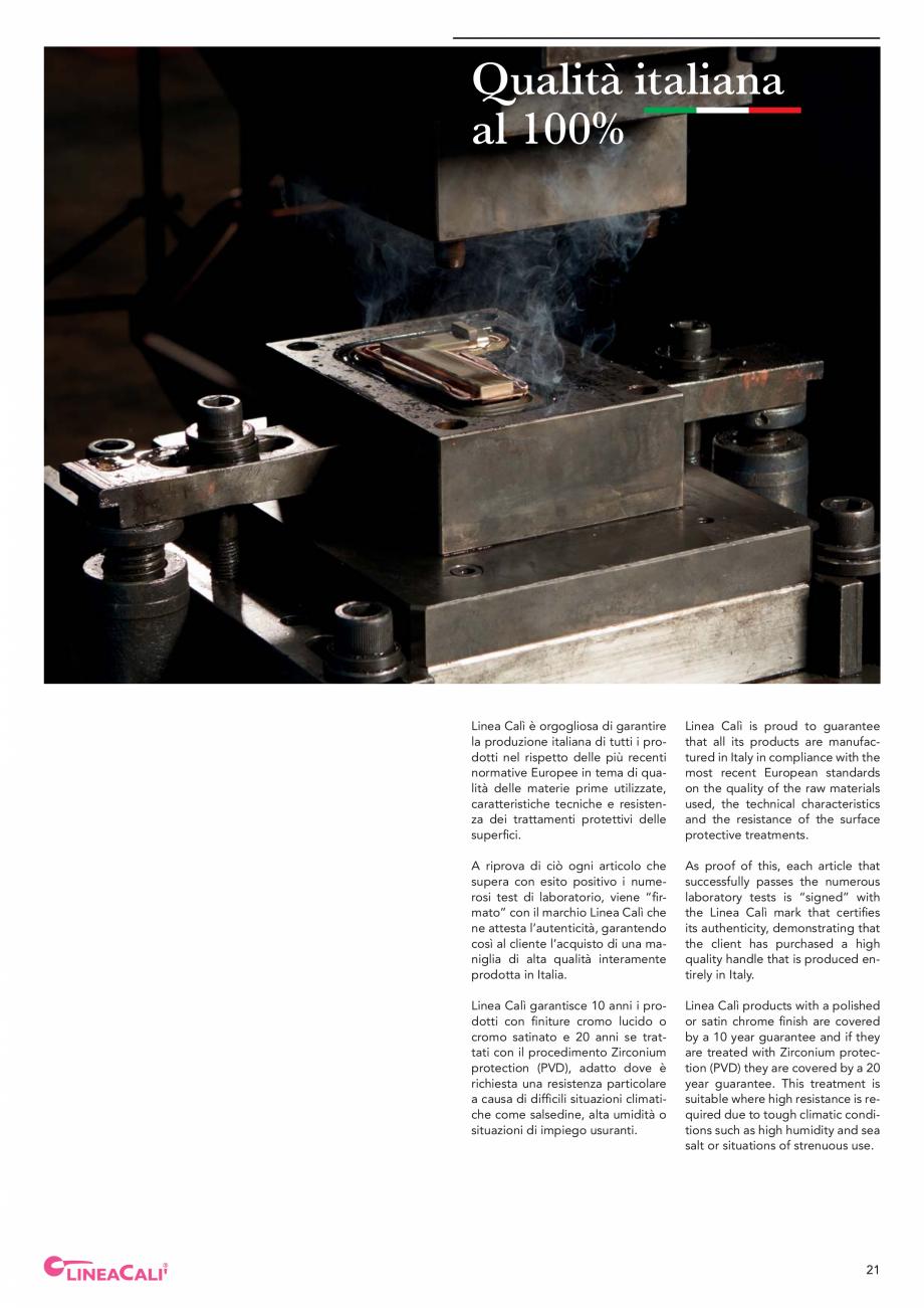 Pagina 23 - Catalog Linea CALI 2019 DALI BUSINESS Catalog, brosura Engleza, Italiana ents, has...