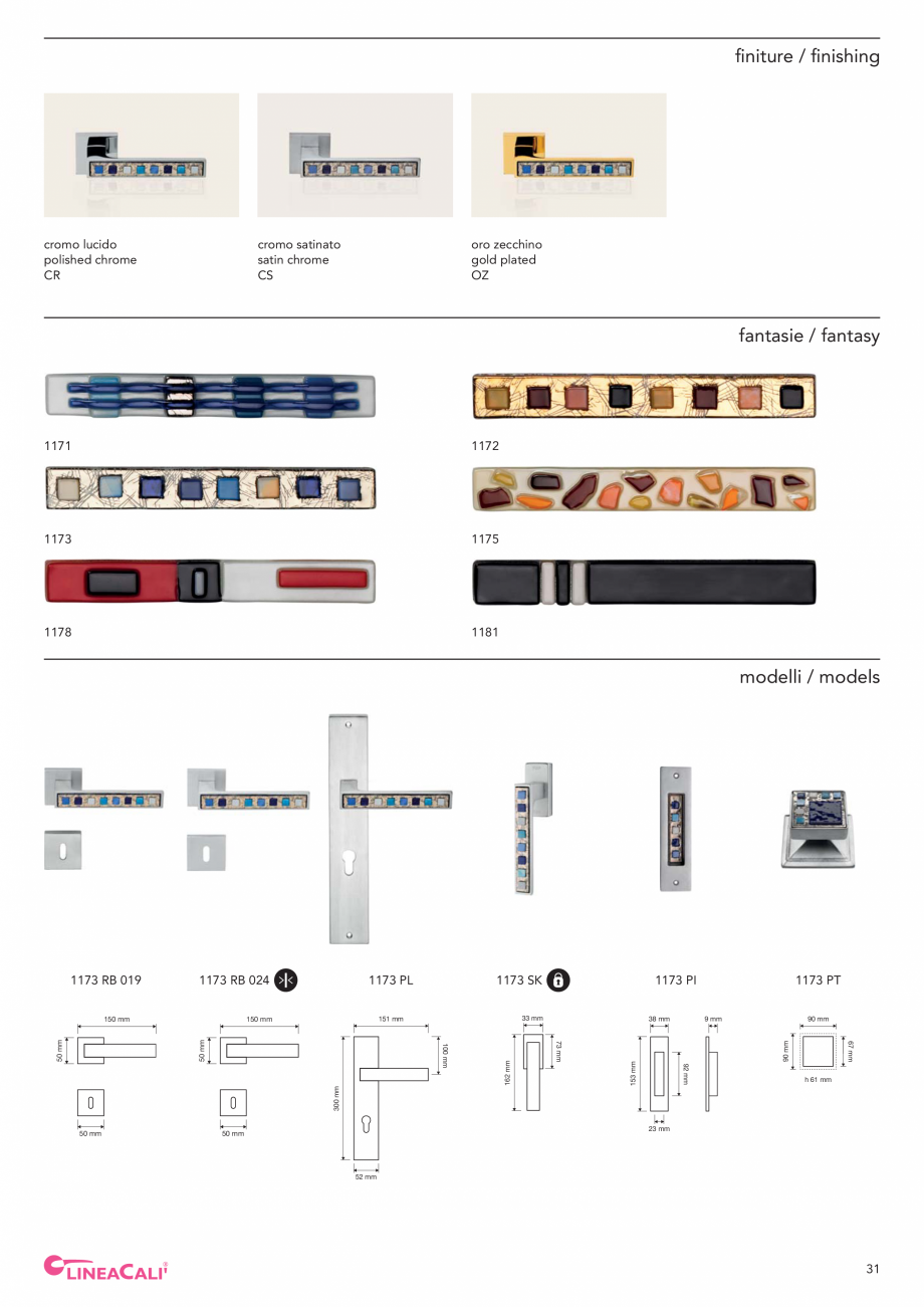 Pagina 33 - Catalog Linea CALI 2019 DALI BUSINESS Catalog, brosura Engleza, Italiana o + oro...