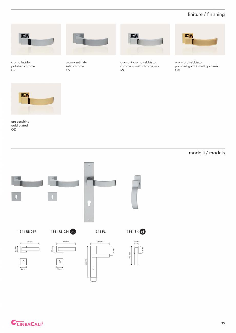 Pagina 37 - Catalog Linea CALI 2019 DALI BUSINESS Catalog, brosura Engleza, Italiana n...