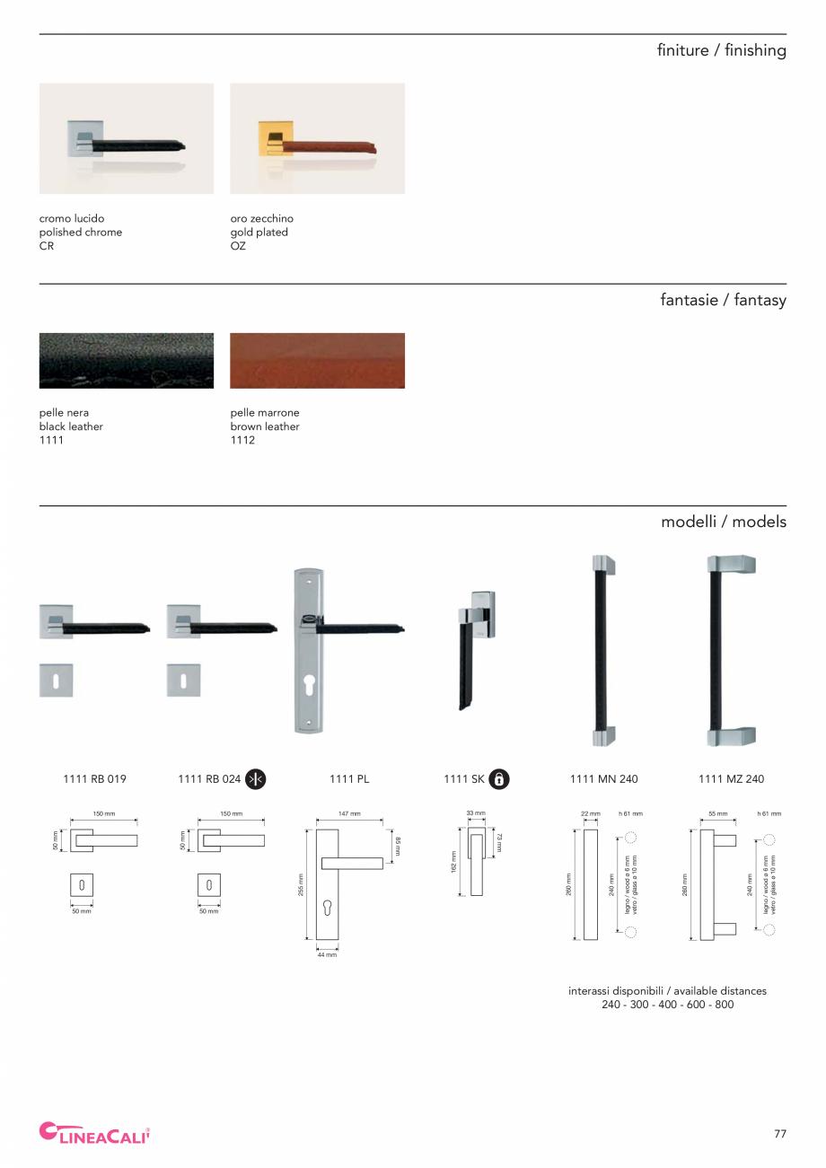 Pagina 79 - Catalog Linea CALI 2019 DALI BUSINESS Catalog, brosura Engleza, Italiana legno / wood ø...