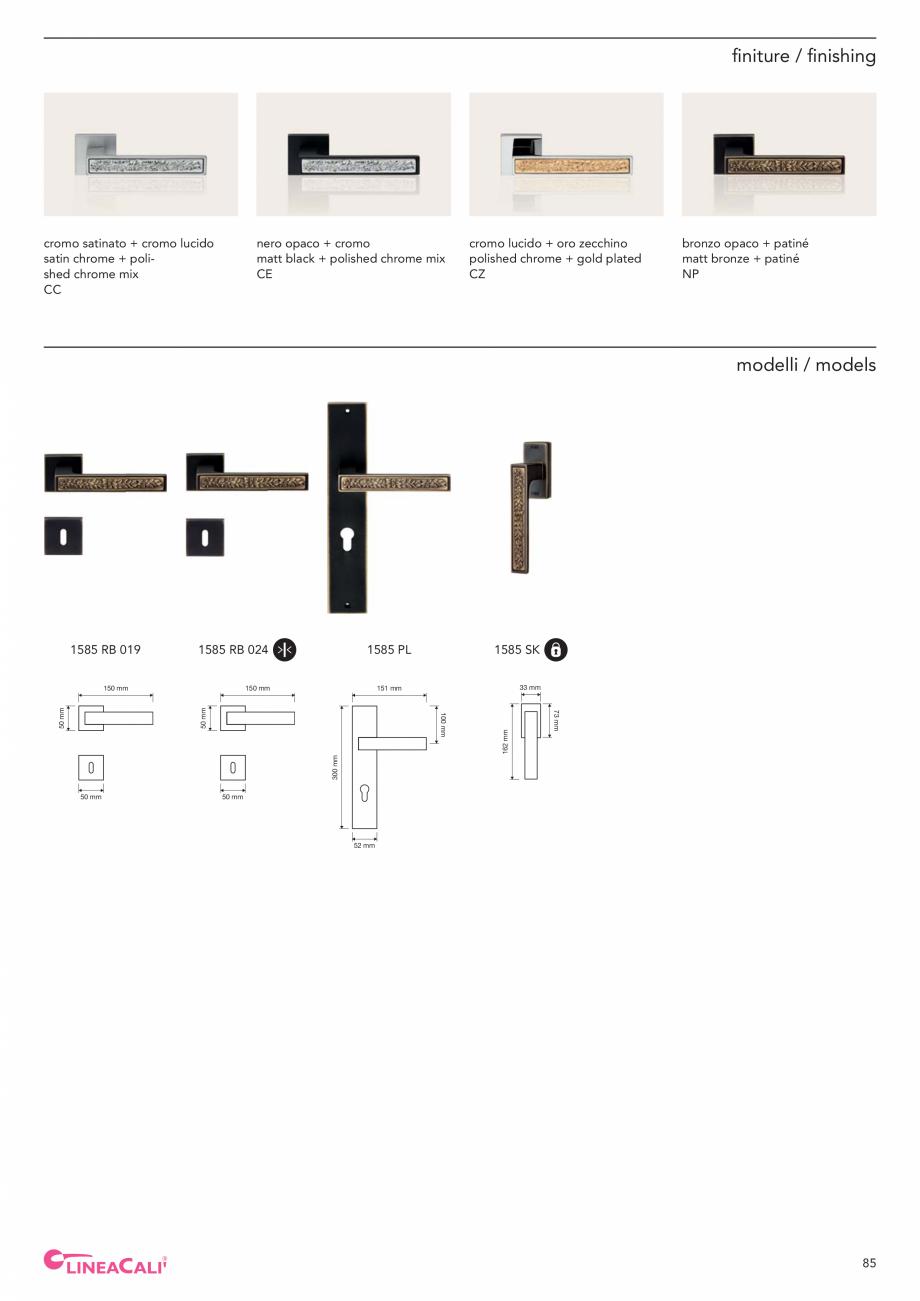 Pagina 87 - Catalog Linea CALI 2019 DALI BUSINESS Catalog, brosura Engleza, Italiana ontal and...