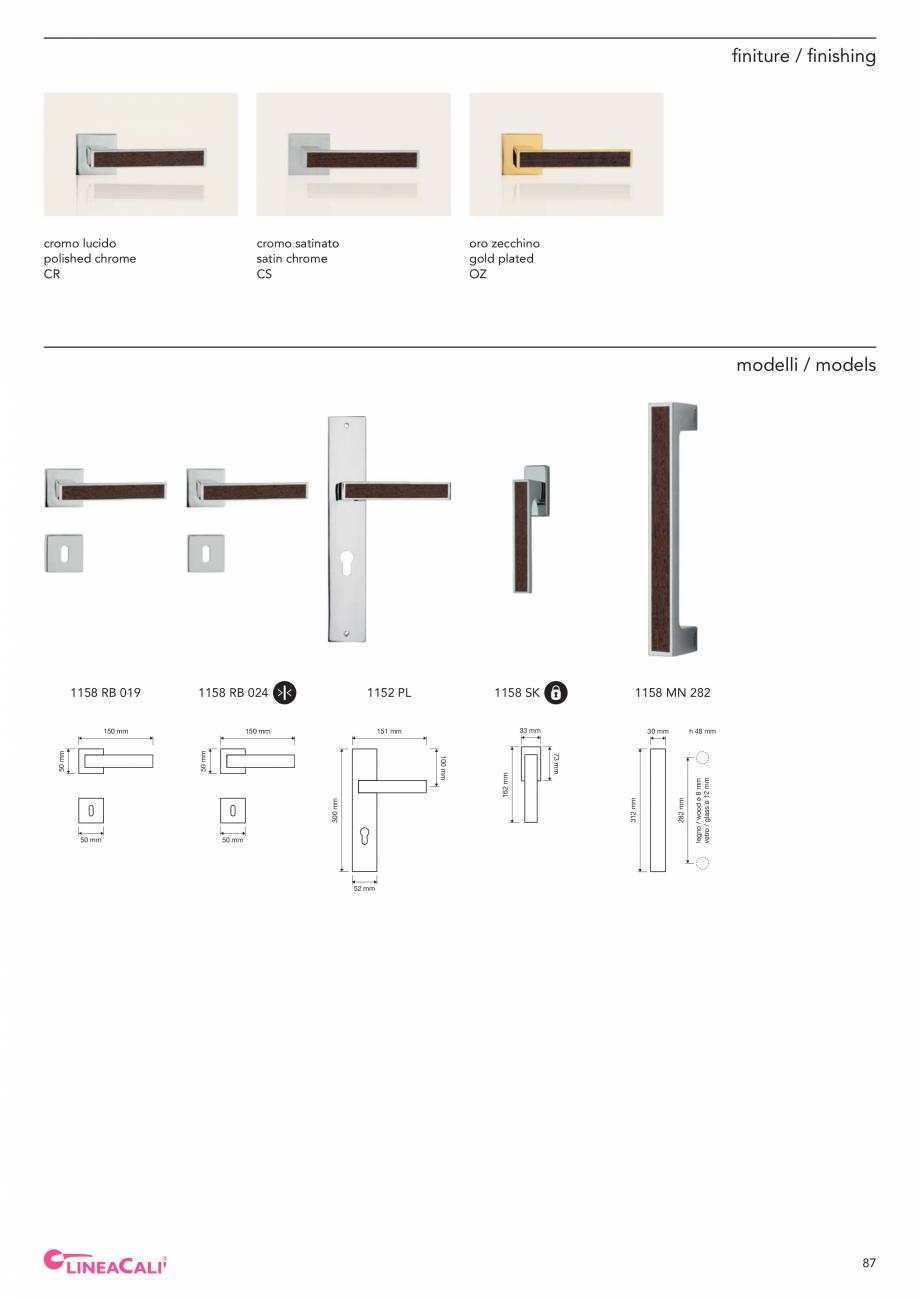 Pagina 89 - Catalog Linea CALI 2019 DALI BUSINESS Catalog, brosura Engleza, Italiana  015  53 mm  50...