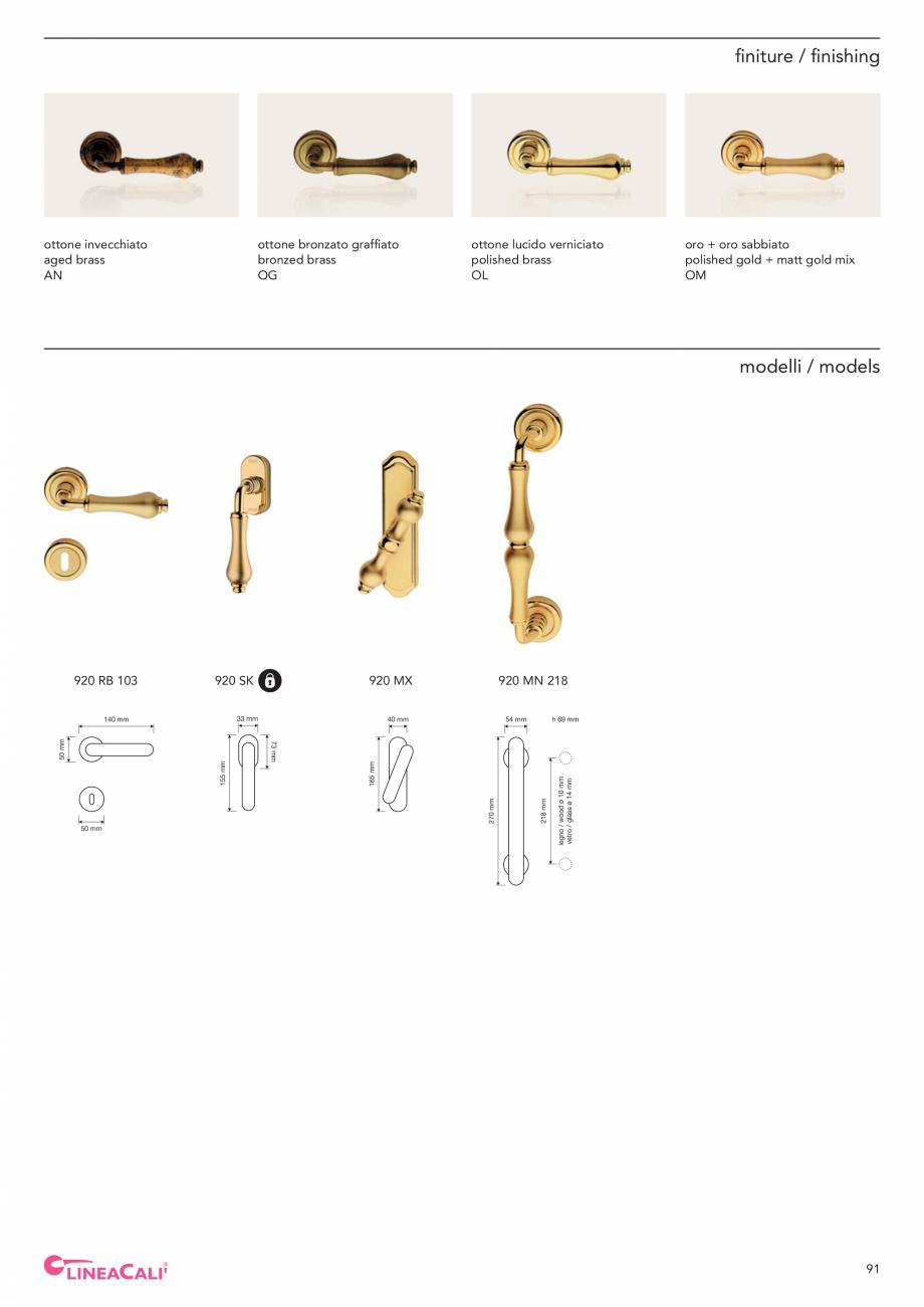 Pagina 93 - Catalog Linea CALI 2019 DALI BUSINESS Catalog, brosura Engleza, Italiana N 232  65 mm ...