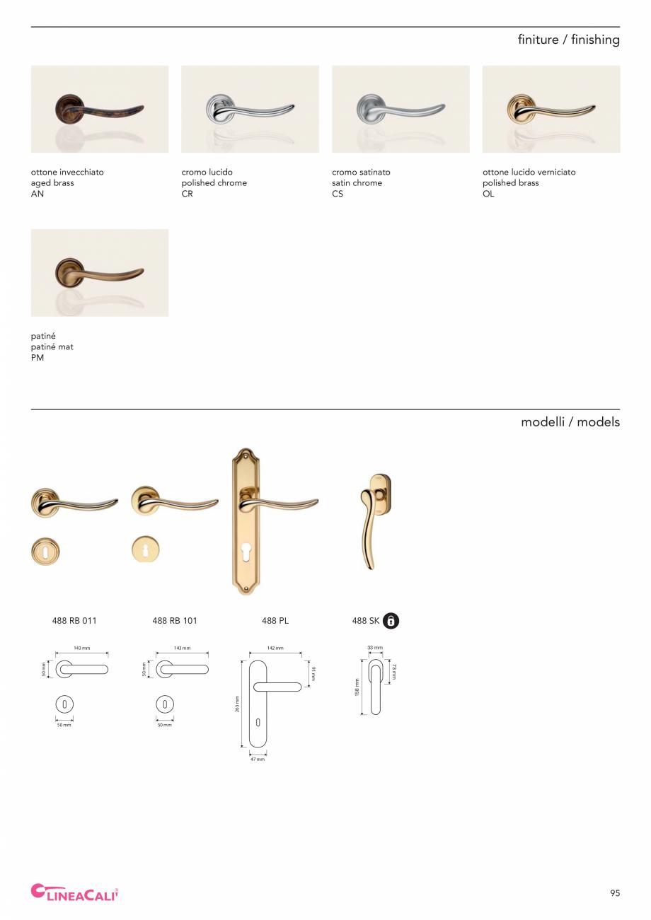 Pagina 97 - Catalog Linea CALI 2019 DALI BUSINESS Catalog, brosura Engleza, Italiana m  50 mm  145...