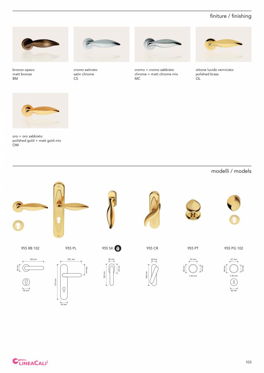 Pagina 105 - Catalog Linea CALI 2019 DALI BUSINESS Catalog, brosura Engleza, Italiana lated OZ ...