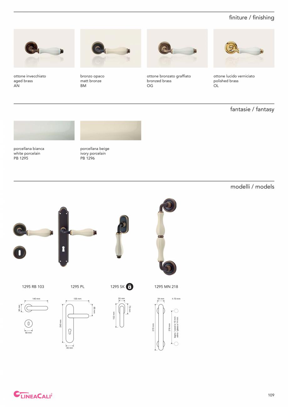 Pagina 111 - Catalog Linea CALI 2019 DALI BUSINESS Catalog, brosura Engleza, Italiana   274 ...