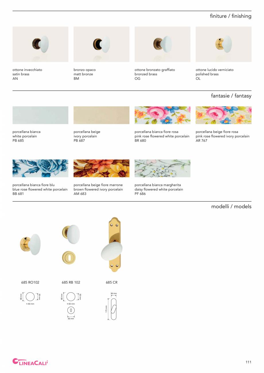 Pagina 113 - Catalog Linea CALI 2019 DALI BUSINESS Catalog, brosura Engleza, Italiana  800 ...