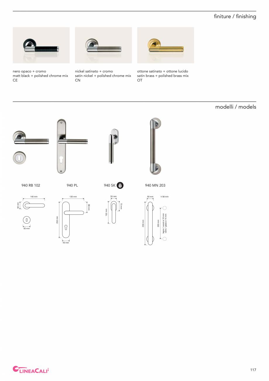 Pagina 119 - Catalog Linea CALI 2019 DALI BUSINESS Catalog, brosura Engleza, Italiana ø 8 mm vetro ...