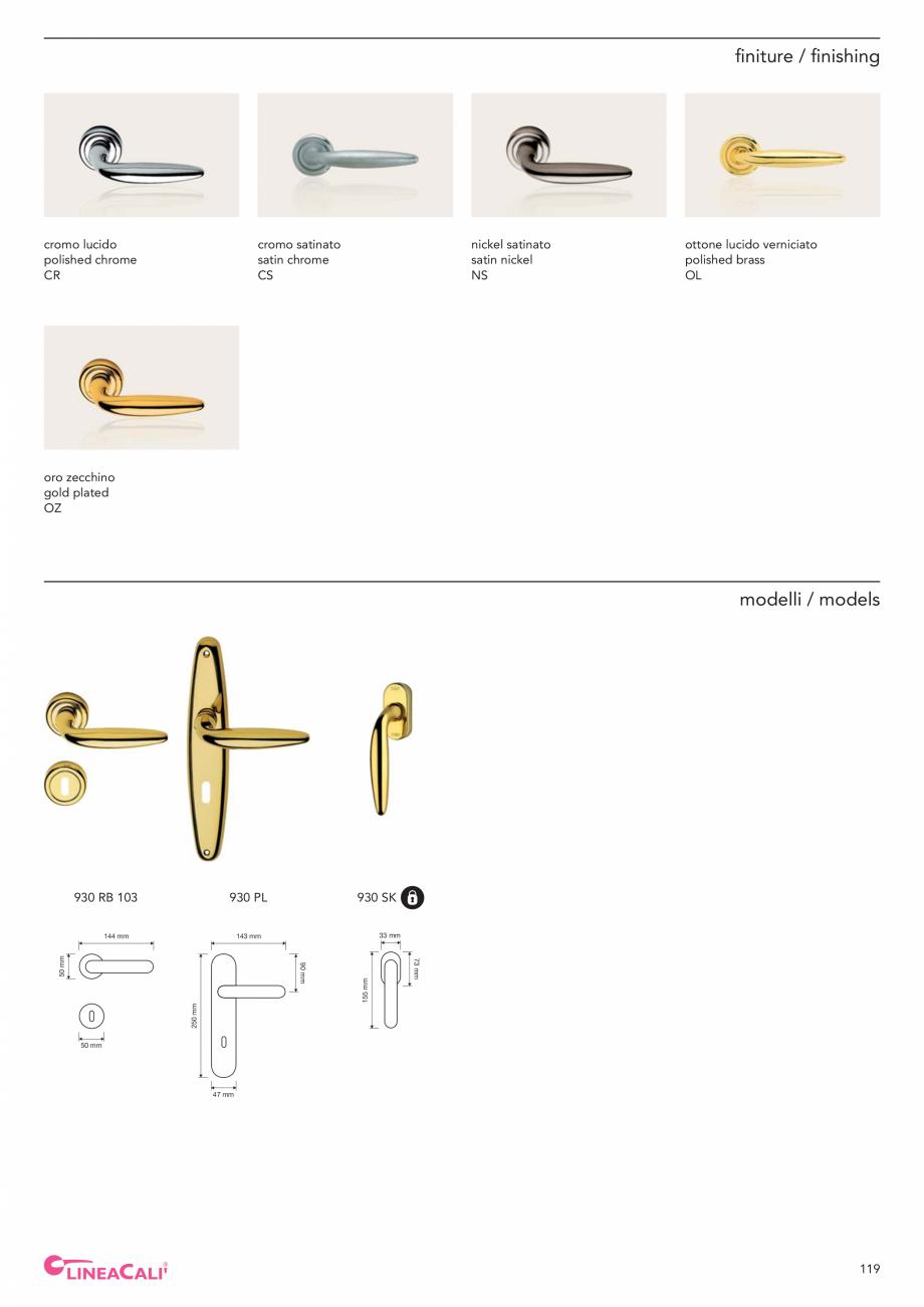 Pagina 121 - Catalog Linea CALI 2019 DALI BUSINESS Catalog, brosura Engleza, Italiana  h 95 mm  PM  ...