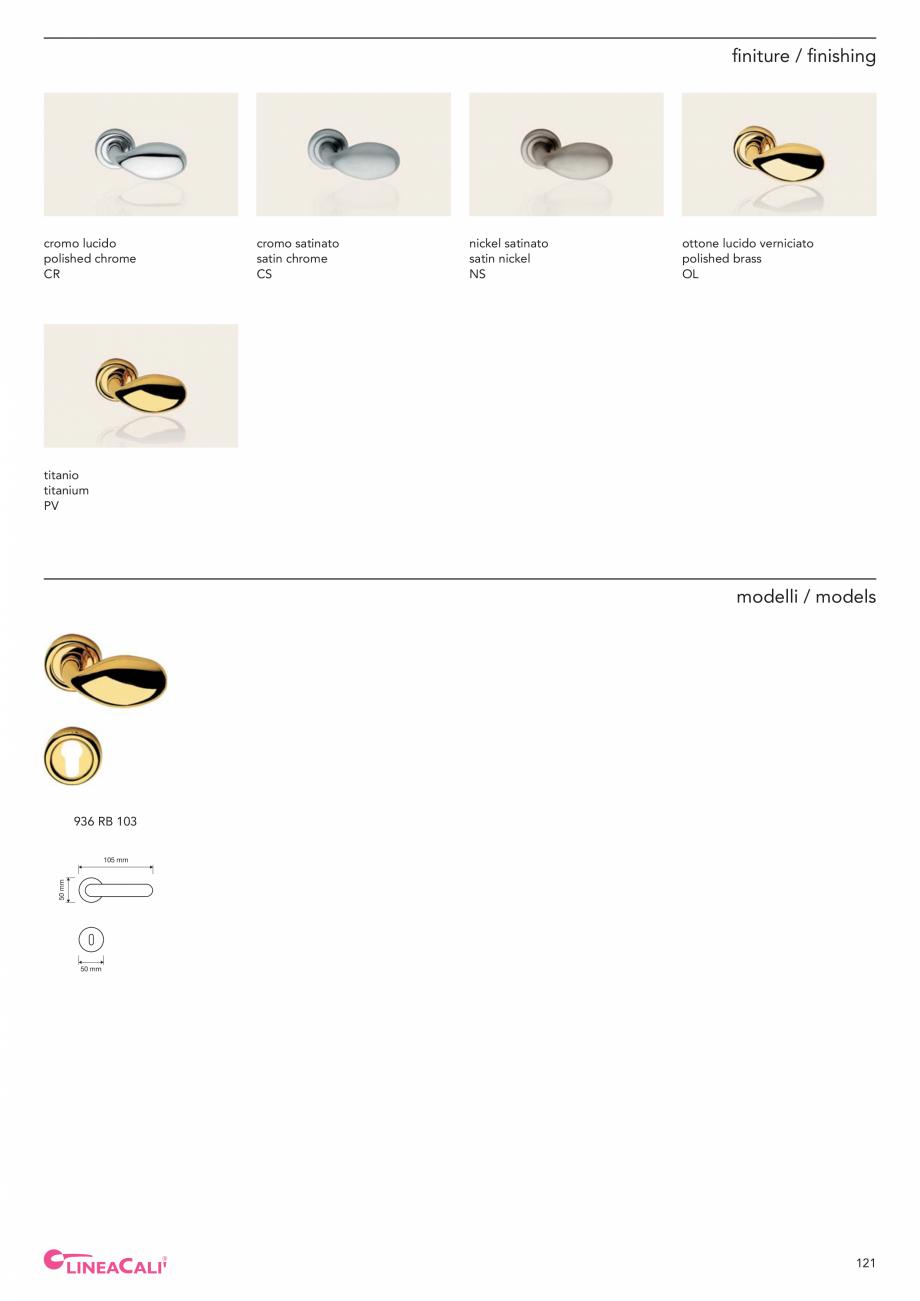Pagina 123 - Catalog Linea CALI 2019 DALI BUSINESS Catalog, brosura Engleza, Italiana gno / wood ø ...
