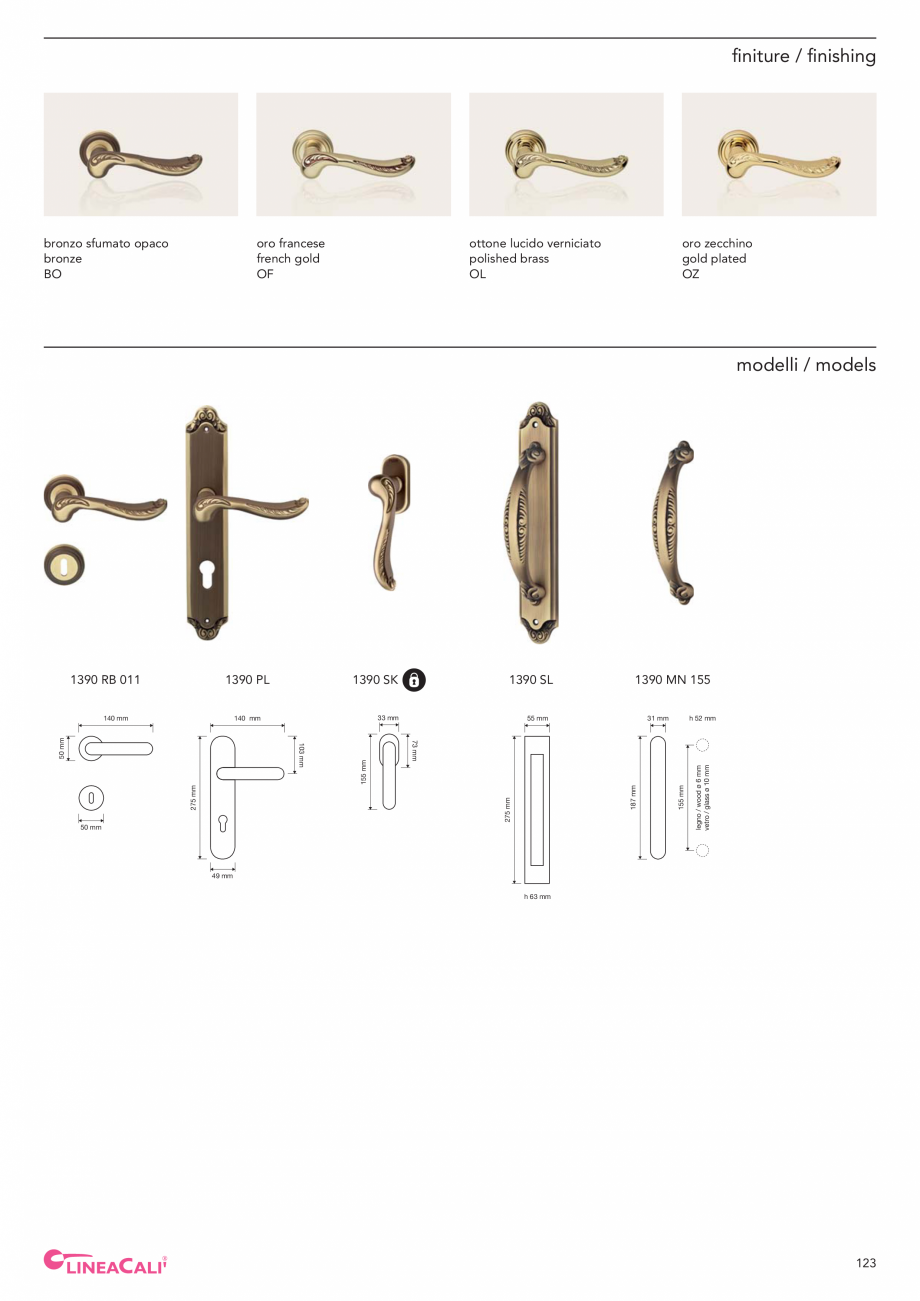 Pagina 125 - Catalog Linea CALI 2019 DALI BUSINESS Catalog, brosura Engleza, Italiana mm  Sfera |...