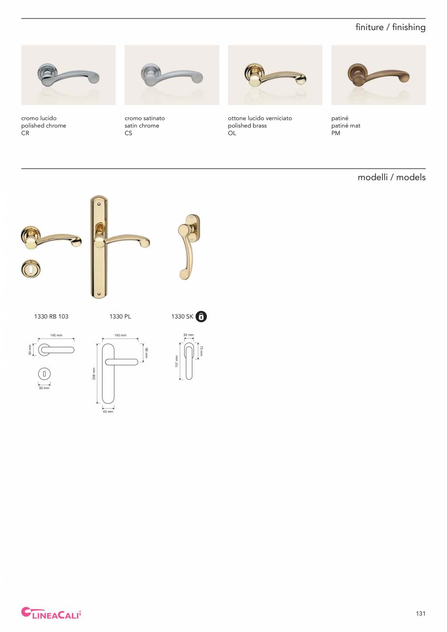 Pagina 133 - Catalog Linea CALI 2019 DALI BUSINESS Catalog, brosura Engleza, Italiana t handle kit  ...