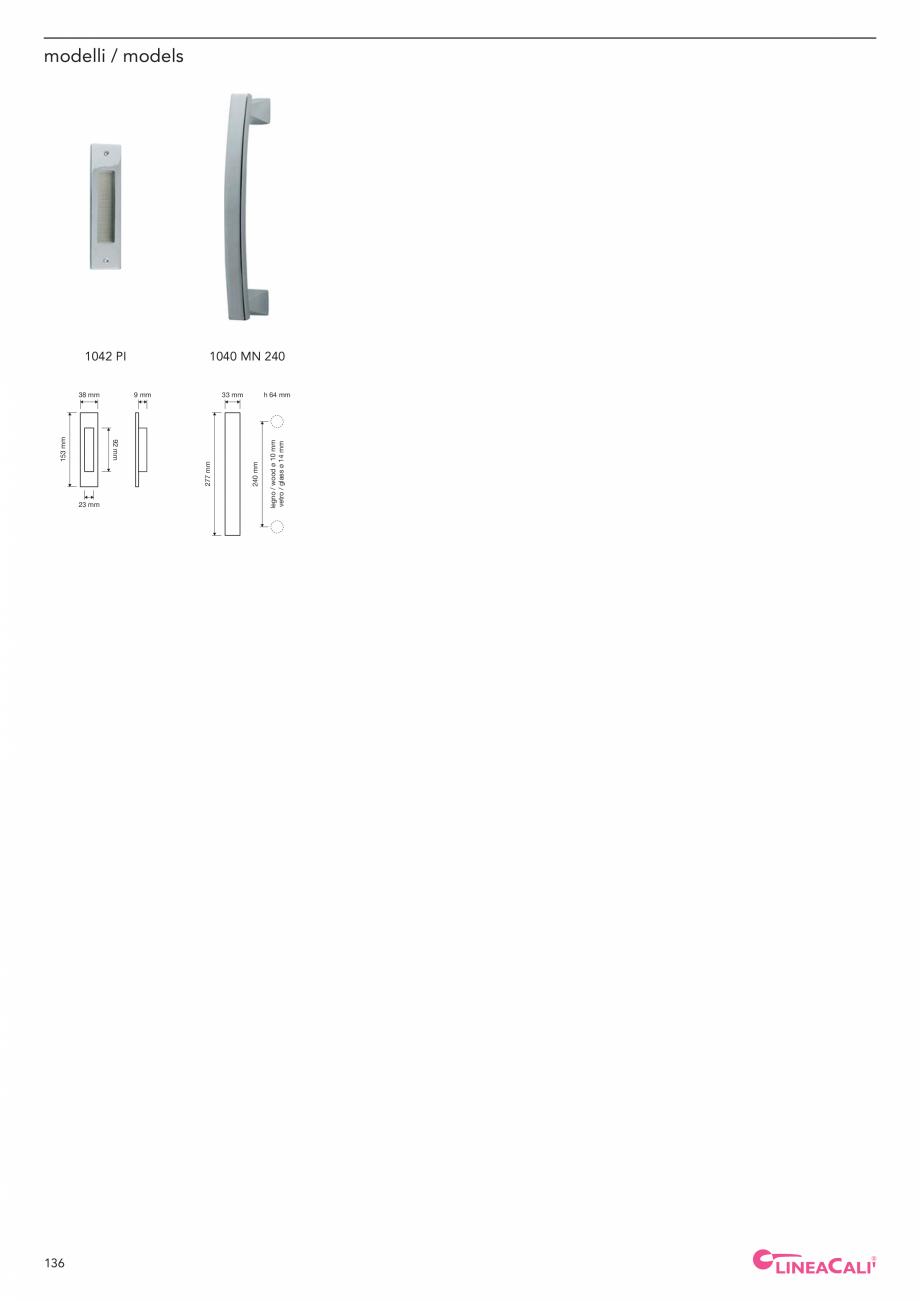 Pagina 138 - Catalog Linea CALI 2019 DALI BUSINESS Catalog, brosura Engleza, Italiana materiale...