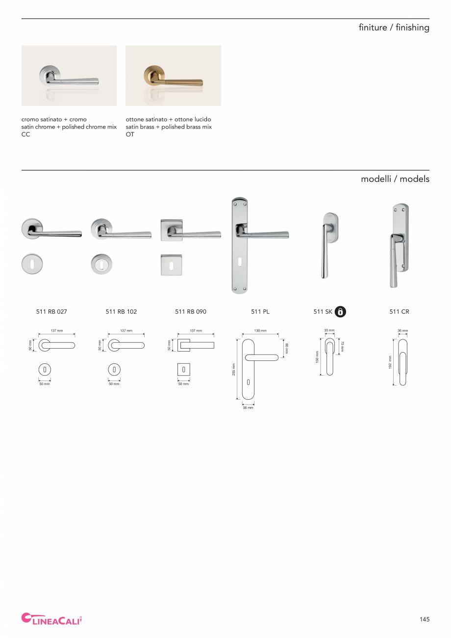 Pagina 147 - Catalog Linea CALI 2019 DALI BUSINESS Catalog, brosura Engleza, Italiana