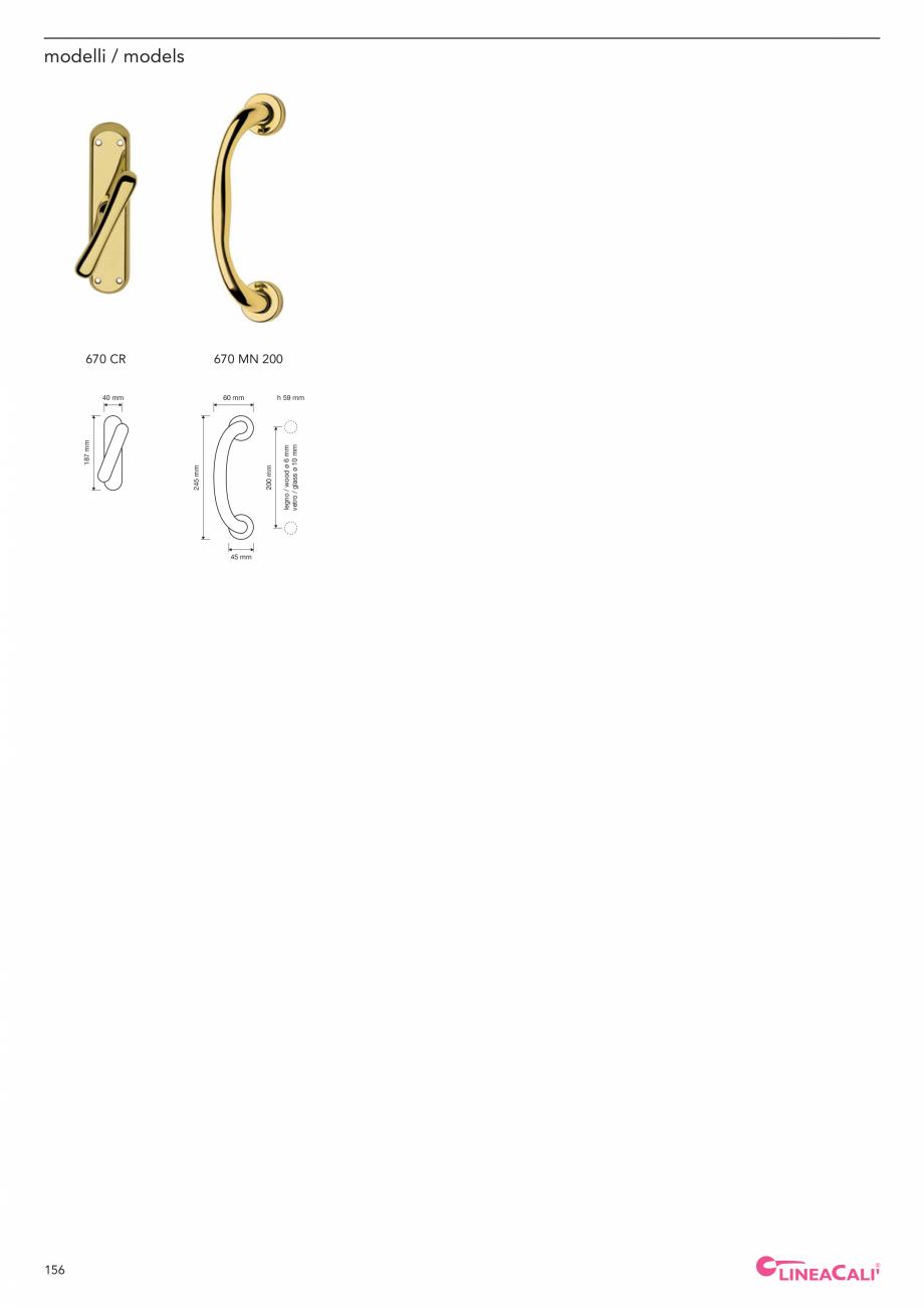 Pagina 158 - Catalog Linea CALI 2019 DALI BUSINESS Catalog, brosura Engleza, Italiana