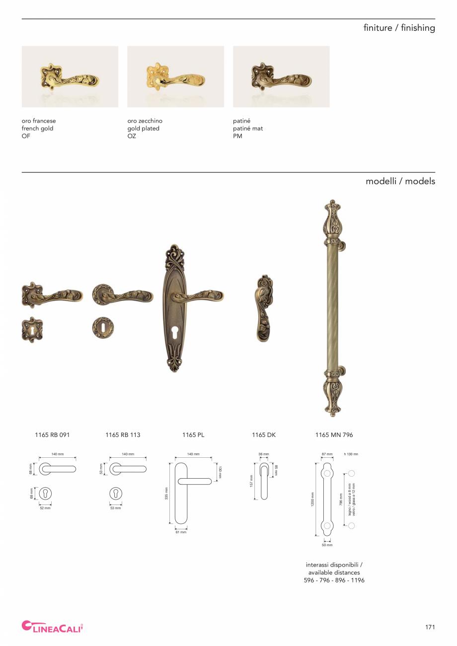 Pagina 173 - Catalog Linea CALI 2019 DALI BUSINESS Catalog, brosura Engleza, Italiana