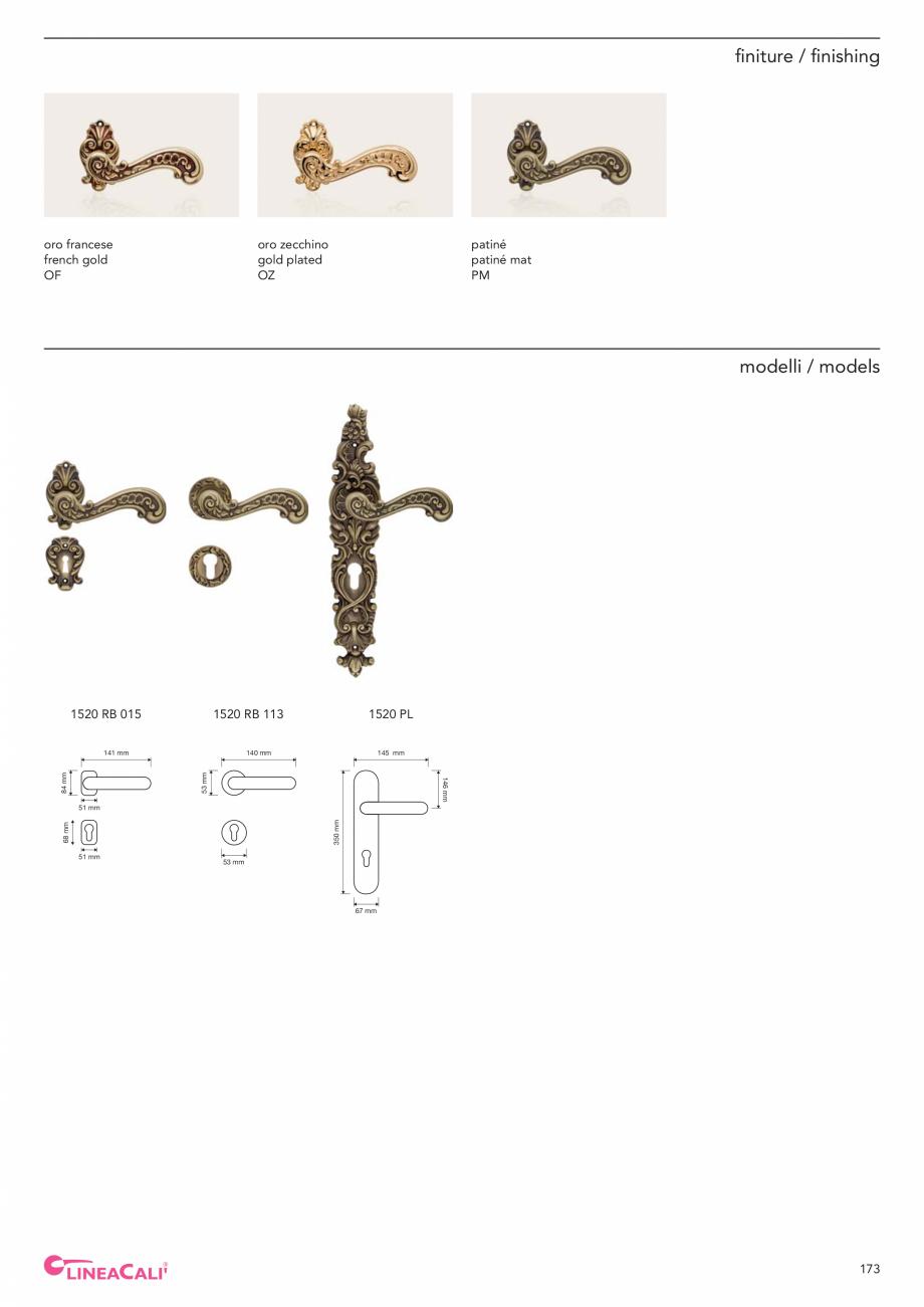 Pagina 175 - Catalog Linea CALI 2019 DALI BUSINESS Catalog, brosura Engleza, Italiana