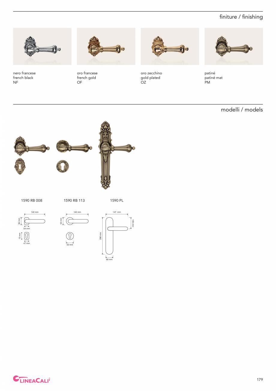 Pagina 181 - Catalog Linea CALI 2019 DALI BUSINESS Catalog, brosura Engleza, Italiana