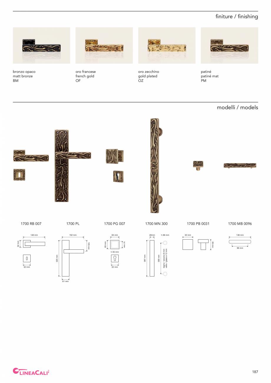 Pagina 189 - Catalog Linea CALI 2019 DALI BUSINESS Catalog, brosura Engleza, Italiana