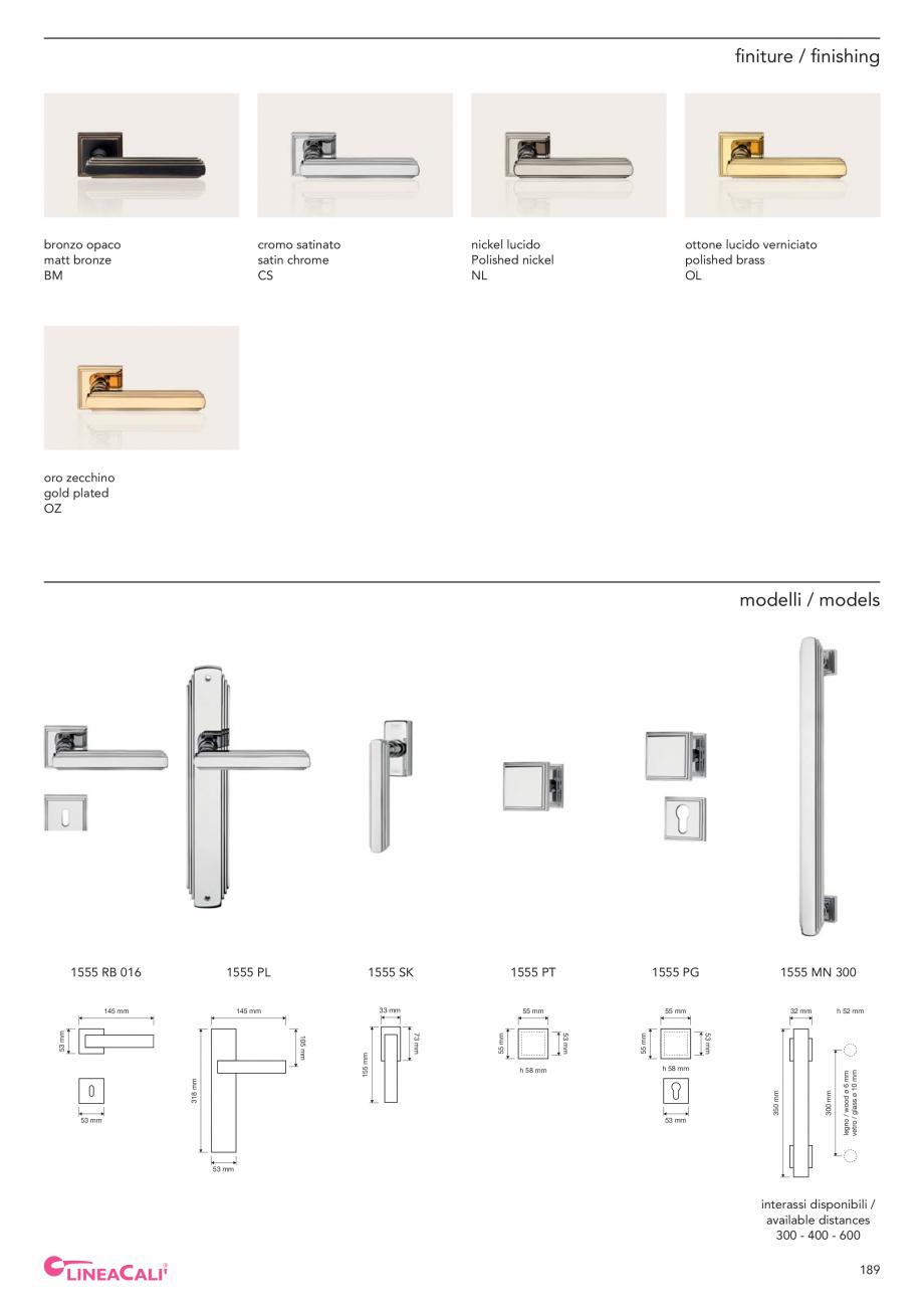 Pagina 191 - Catalog Linea CALI 2019 DALI BUSINESS Catalog, brosura Engleza, Italiana