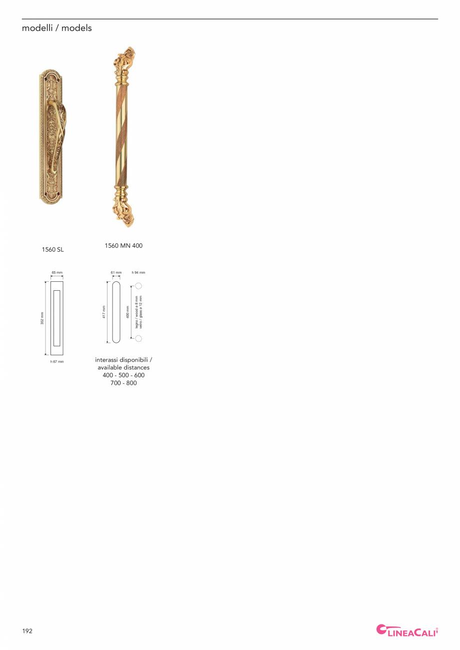 Pagina 194 - Catalog Linea CALI 2019 DALI BUSINESS Catalog, brosura Engleza, Italiana