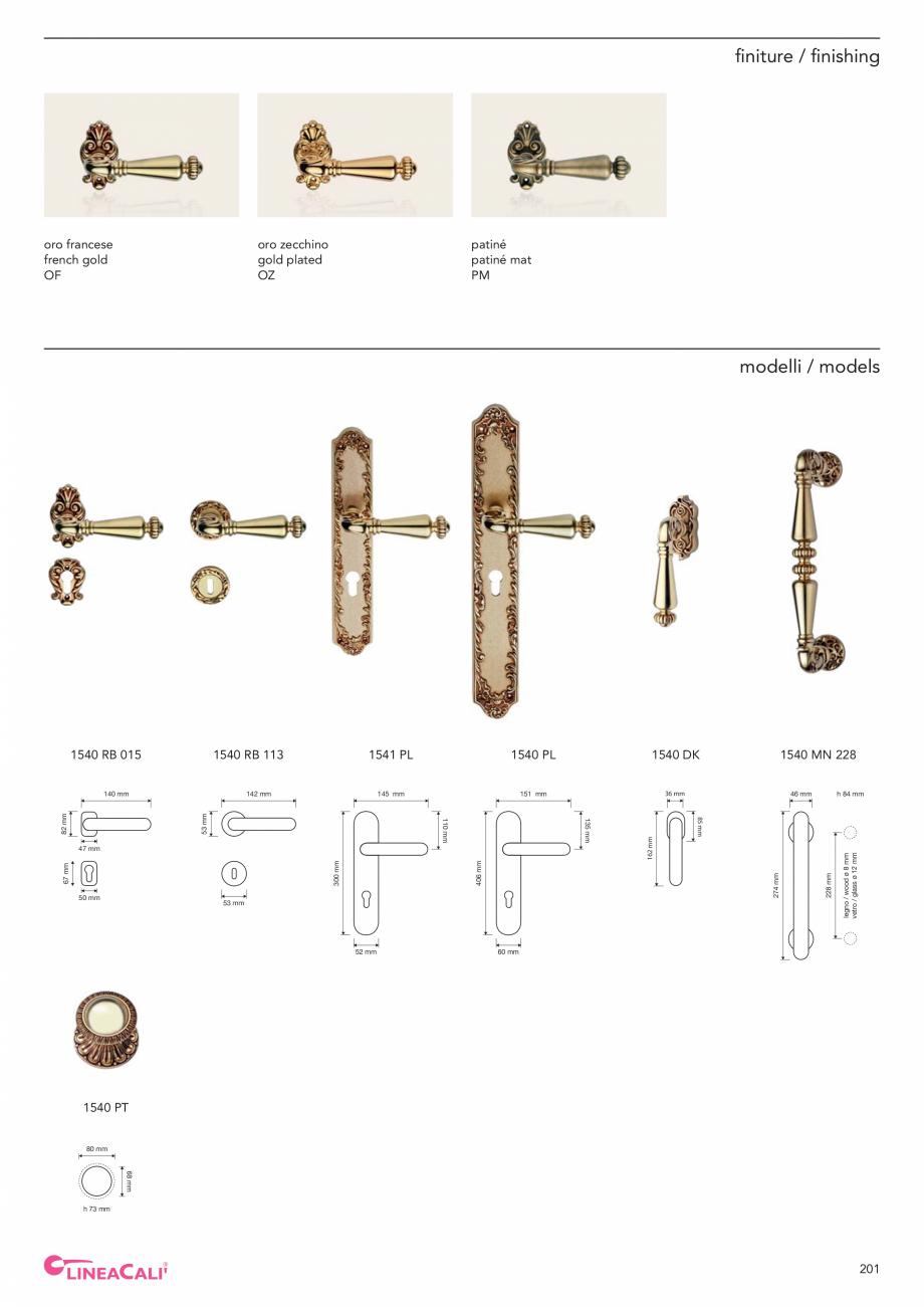 Pagina 203 - Catalog Linea CALI 2019 DALI BUSINESS Catalog, brosura Engleza, Italiana