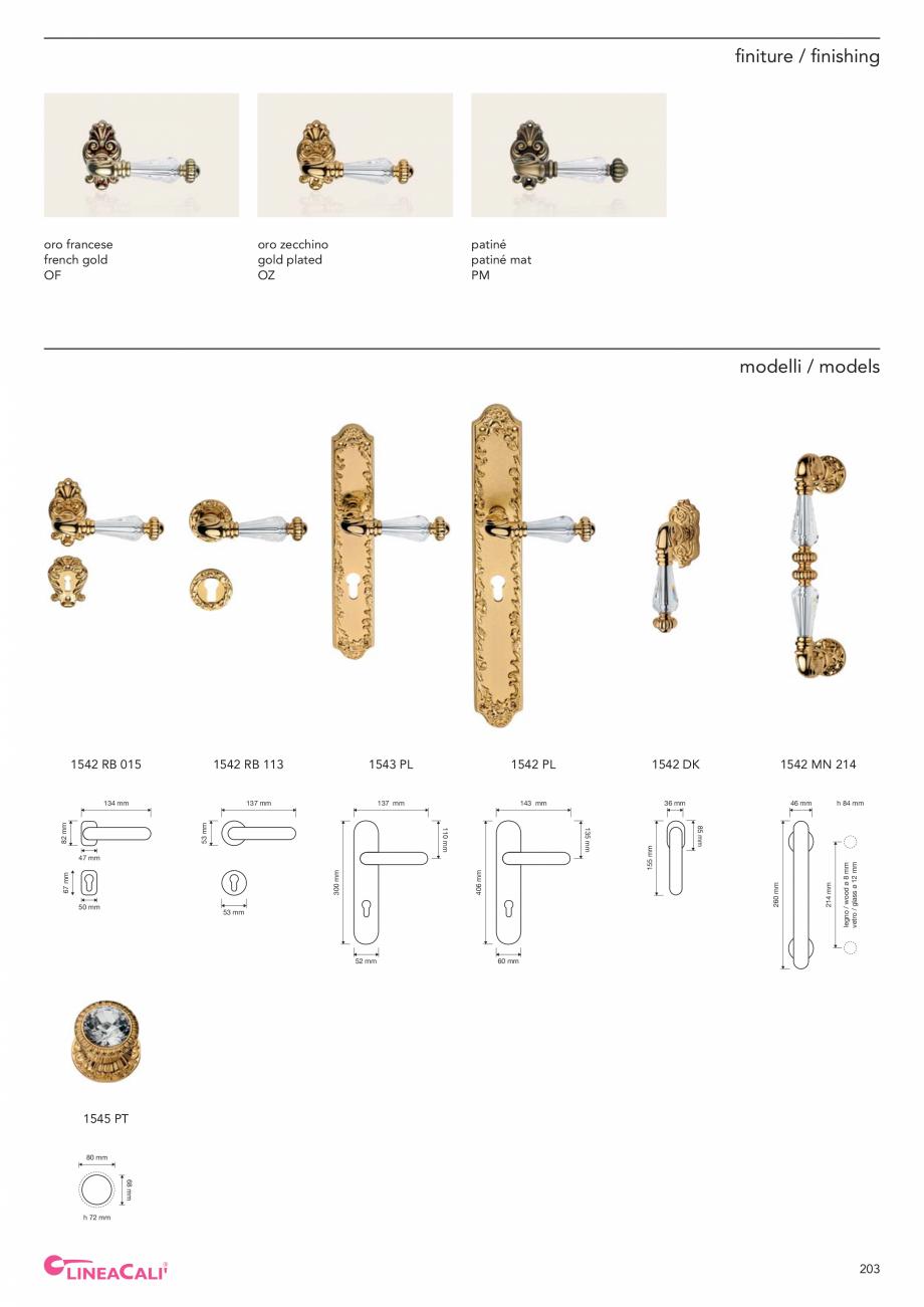 Pagina 205 - Catalog Linea CALI 2019 DALI BUSINESS Catalog, brosura Engleza, Italiana