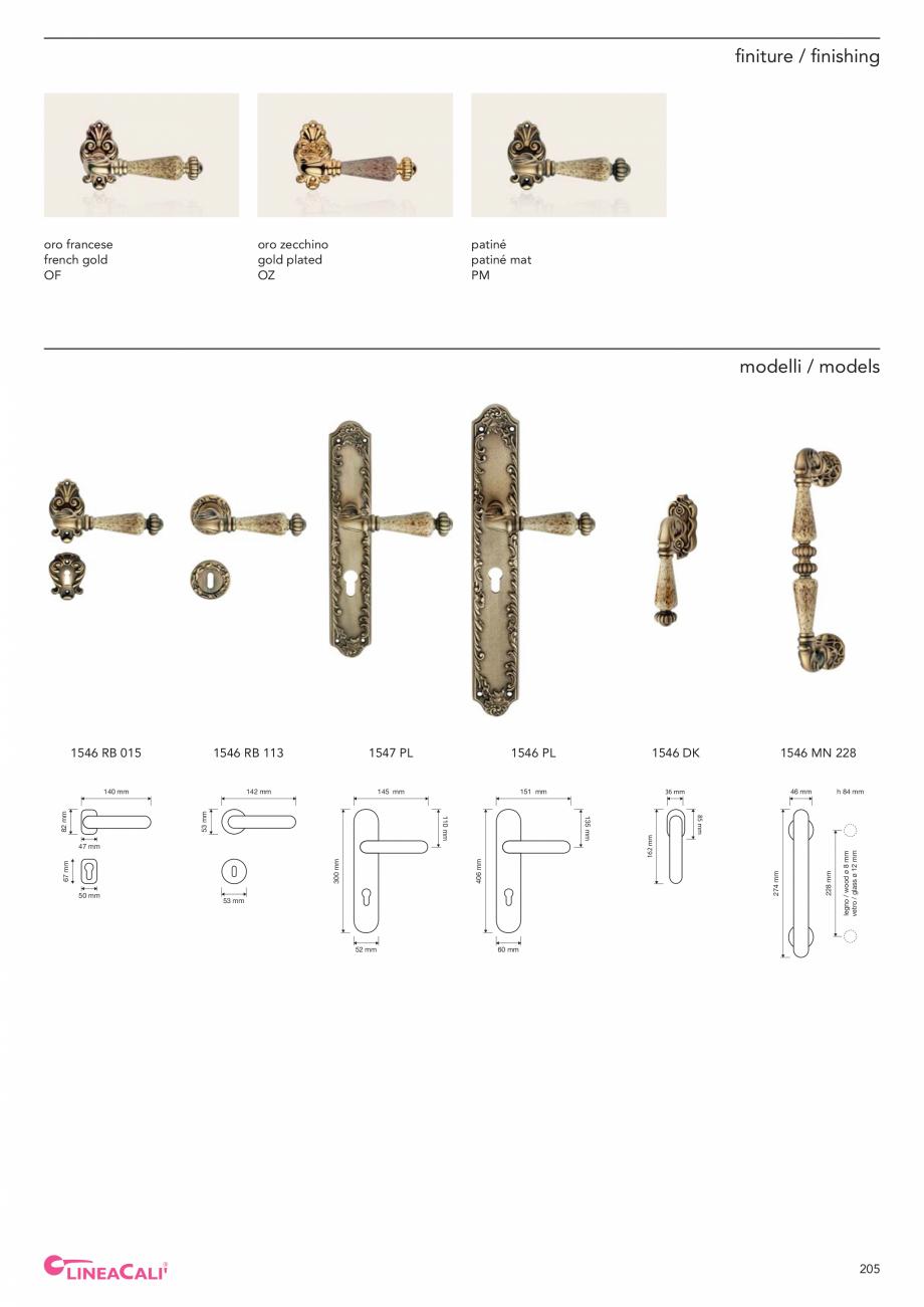 Pagina 207 - Catalog Linea CALI 2019 DALI BUSINESS Catalog, brosura Engleza, Italiana