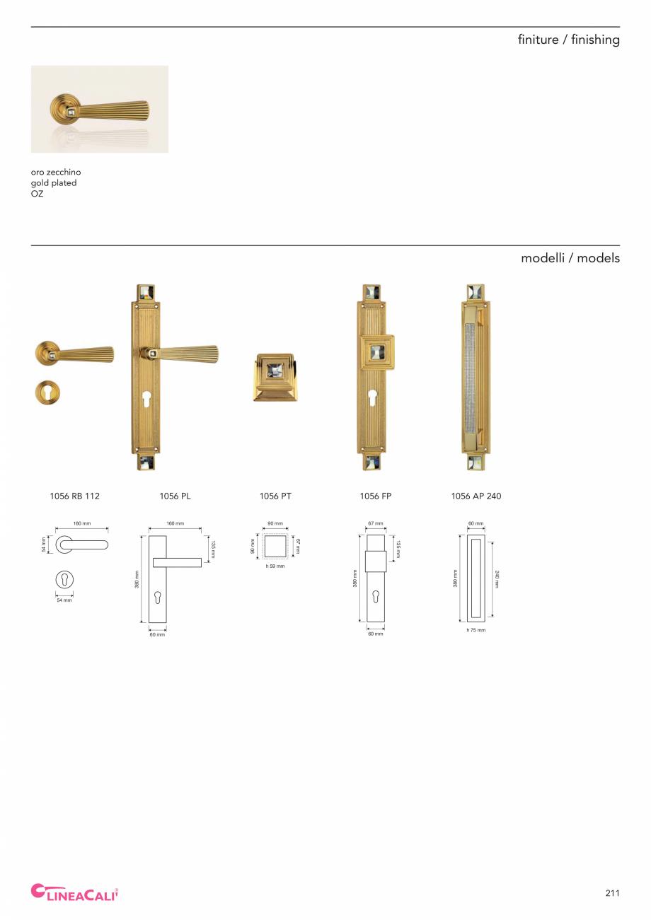 Pagina 213 - Catalog Linea CALI 2019 DALI BUSINESS Catalog, brosura Engleza, Italiana