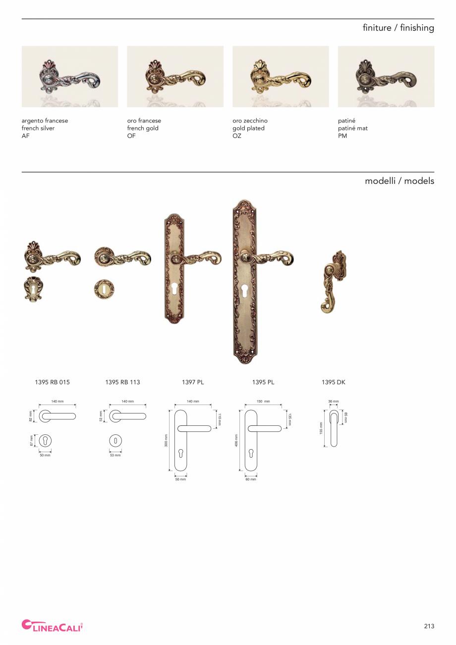 Pagina 215 - Catalog Linea CALI 2019 DALI BUSINESS Catalog, brosura Engleza, Italiana