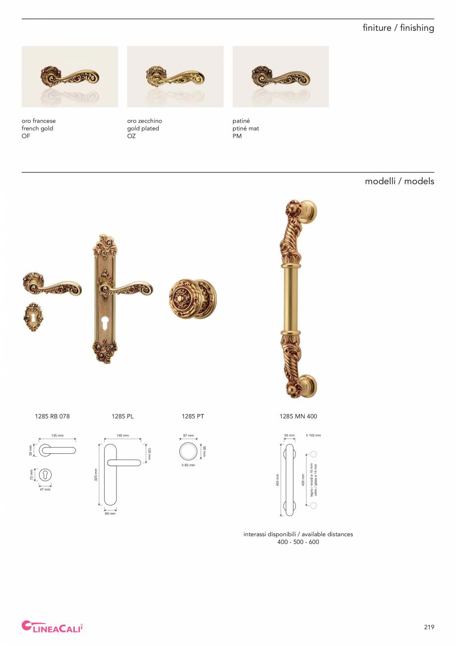 Pagina 221 - Catalog Linea CALI 2019 DALI BUSINESS Catalog, brosura Engleza, Italiana