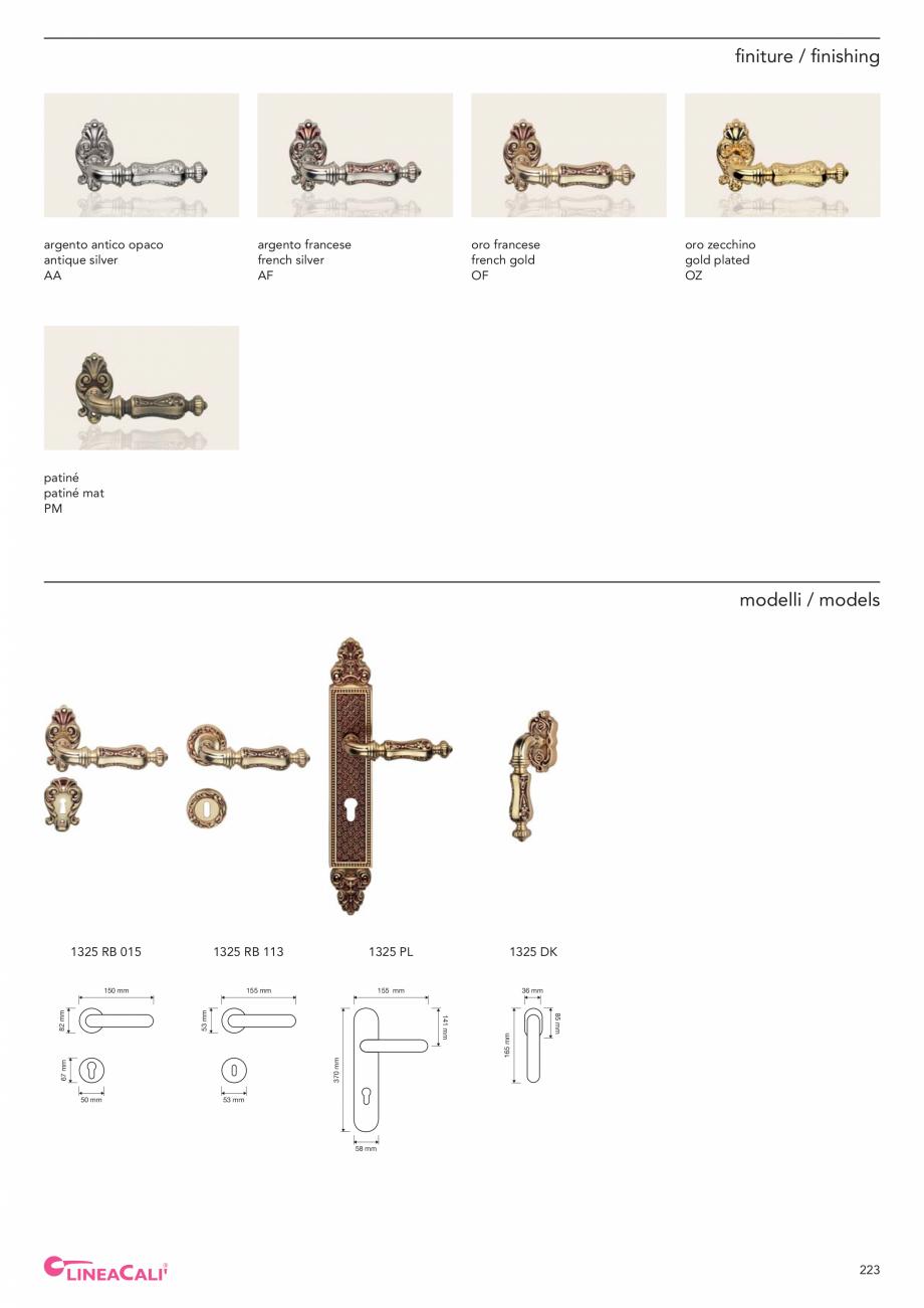 Pagina 225 - Catalog Linea CALI 2019 DALI BUSINESS Catalog, brosura Engleza, Italiana