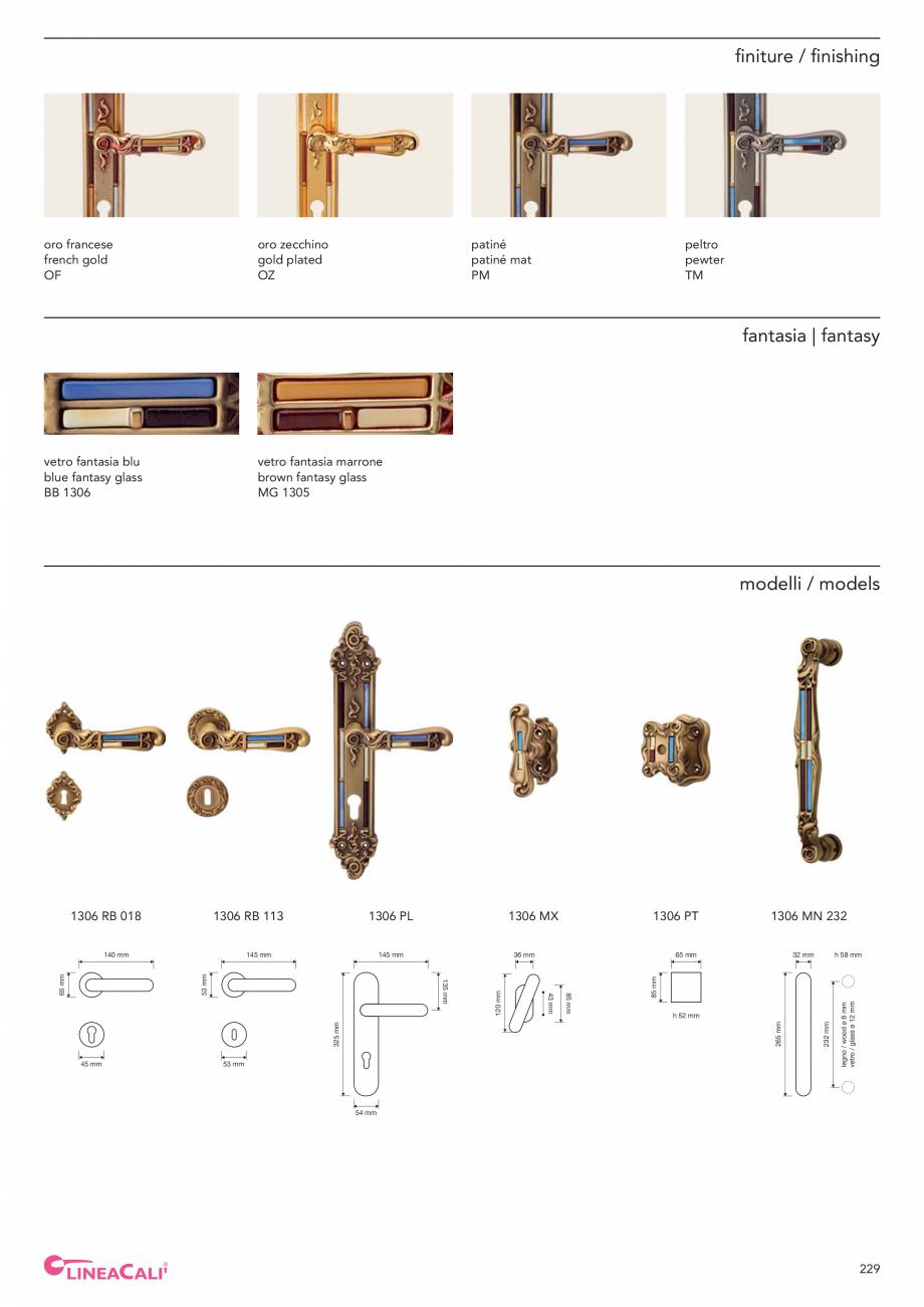 Pagina 231 - Catalog Linea CALI 2019 DALI BUSINESS Catalog, brosura Engleza, Italiana
