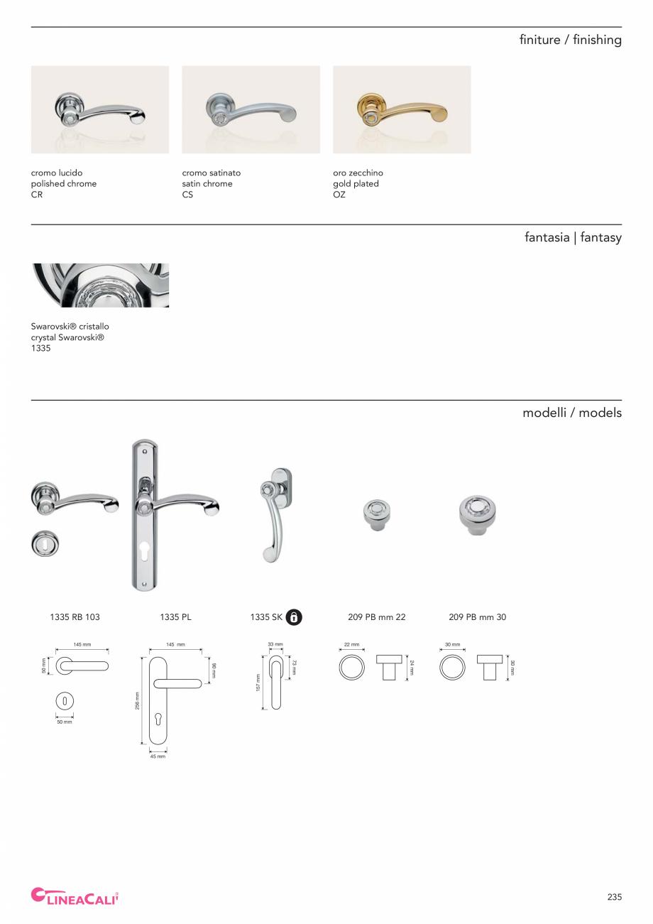 Pagina 237 - Catalog Linea CALI 2019 DALI BUSINESS Catalog, brosura Engleza, Italiana