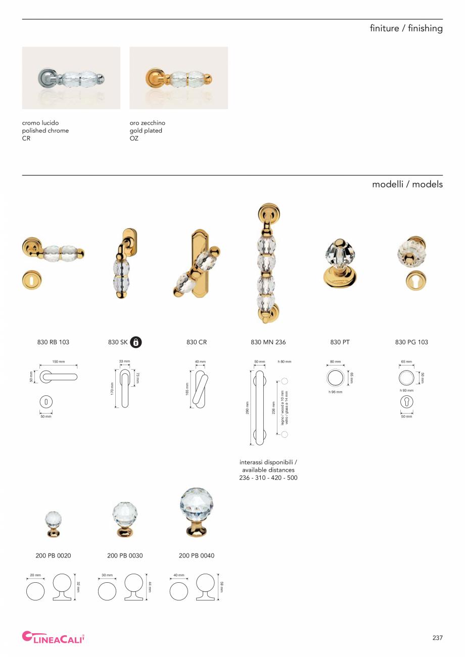 Pagina 239 - Catalog Linea CALI 2019 DALI BUSINESS Catalog, brosura Engleza, Italiana