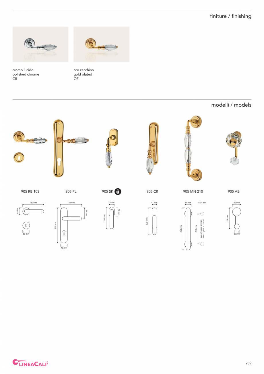 Pagina 241 - Catalog Linea CALI 2019 DALI BUSINESS Catalog, brosura Engleza, Italiana