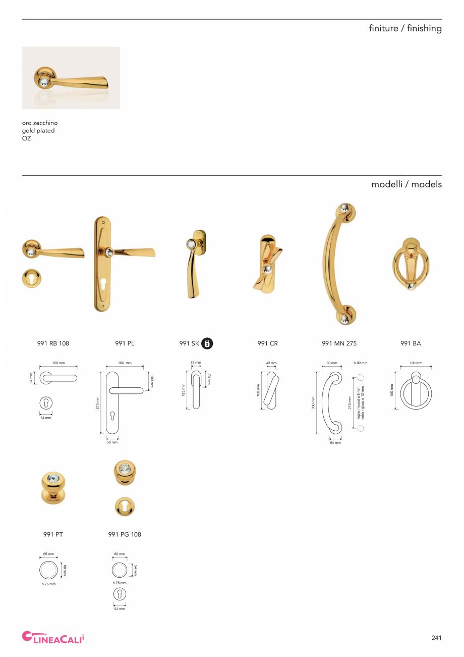Pagina 243 - Catalog Linea CALI 2019 DALI BUSINESS Catalog, brosura Engleza, Italiana