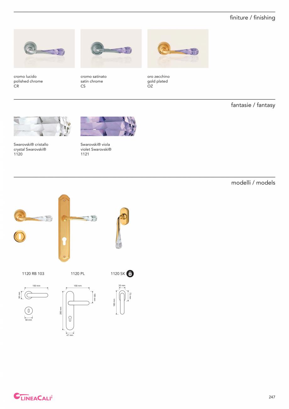 Pagina 249 - Catalog Linea CALI 2019 DALI BUSINESS Catalog, brosura Engleza, Italiana