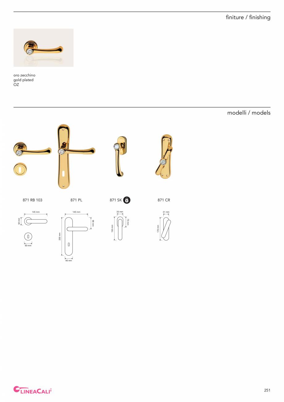 Pagina 253 - Catalog Linea CALI 2019 DALI BUSINESS Catalog, brosura Engleza, Italiana