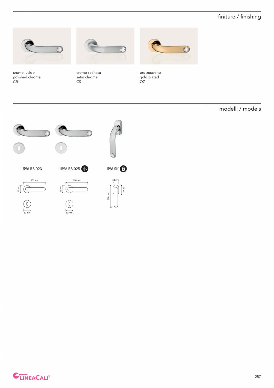 Pagina 259 - Catalog Linea CALI 2019 DALI BUSINESS Catalog, brosura Engleza, Italiana