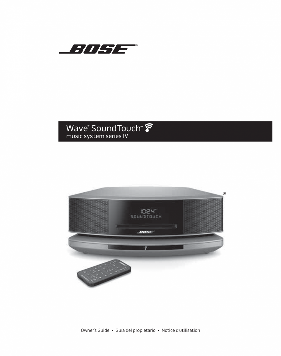 bose wave soundtouch music system iv user manual