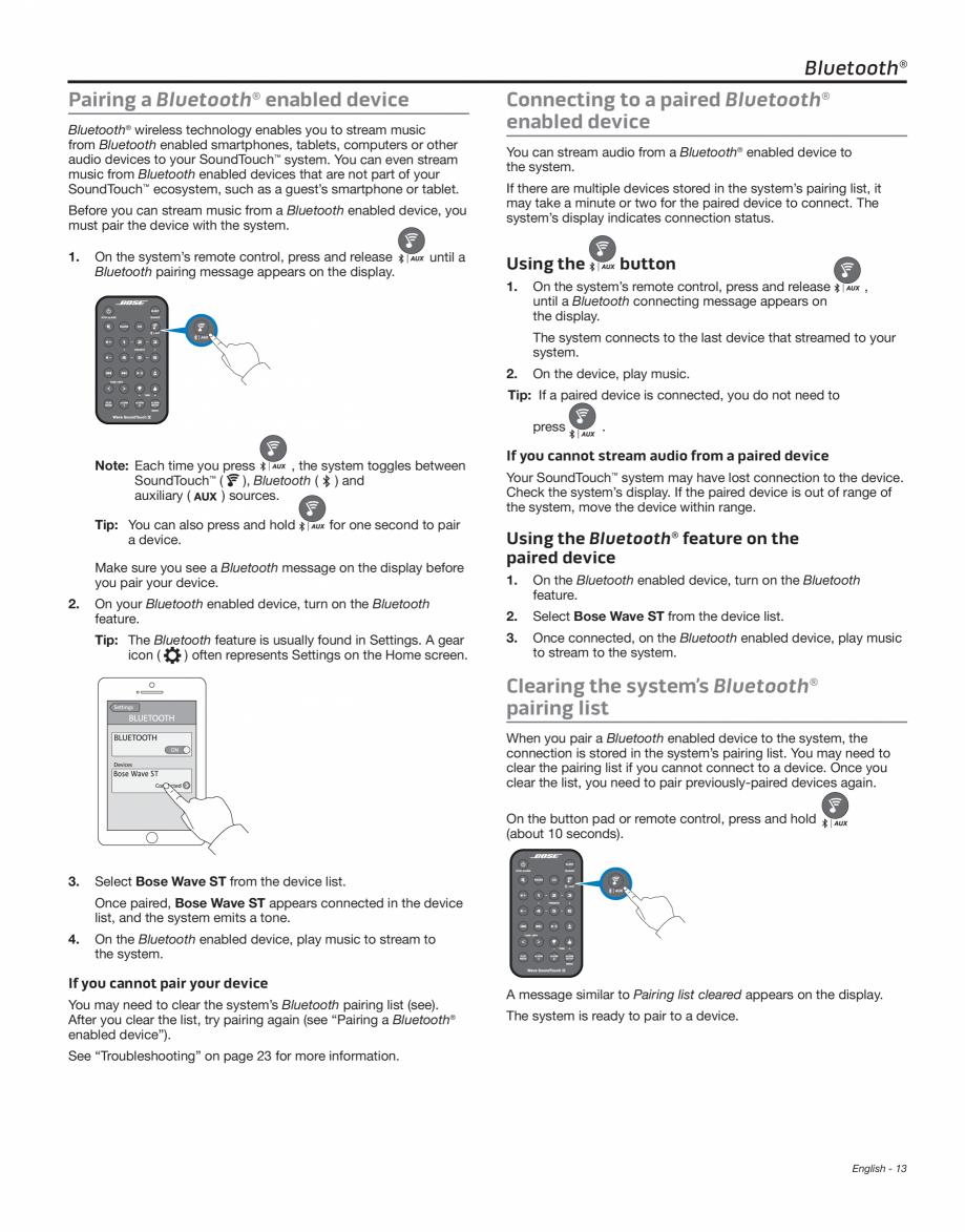Sistem Audio Wave Bose Wave Soundtouch Iv Instructiuni