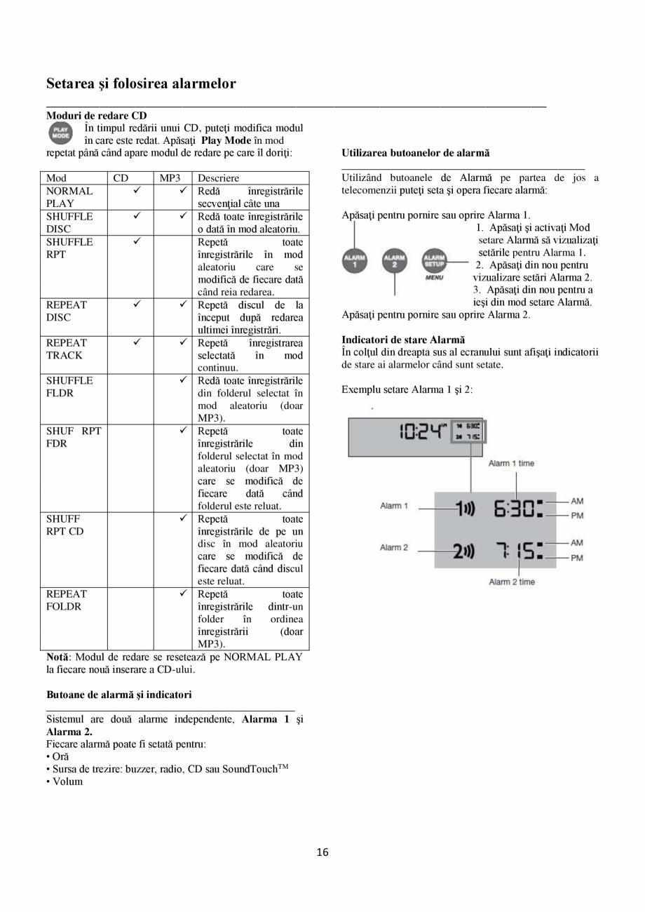 Pagina 16 - Sistem audio wave BOSE Wave SoundTouch IV Instructiuni montaj, utilizare Romana Meniul...