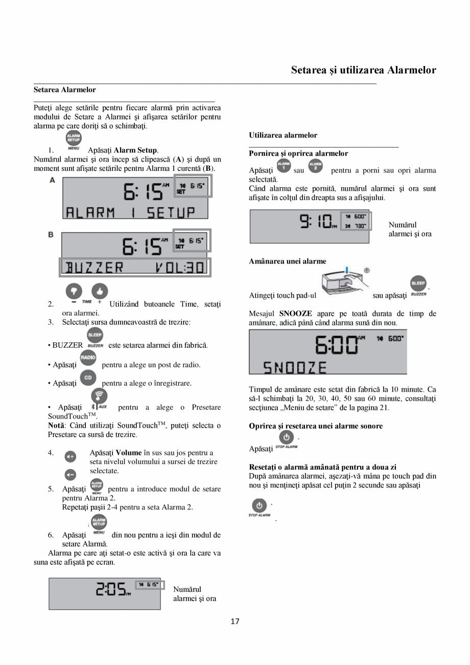 Pagina 17 - Sistem audio wave BOSE Wave SoundTouch IV Instructiuni montaj, utilizare Romana...