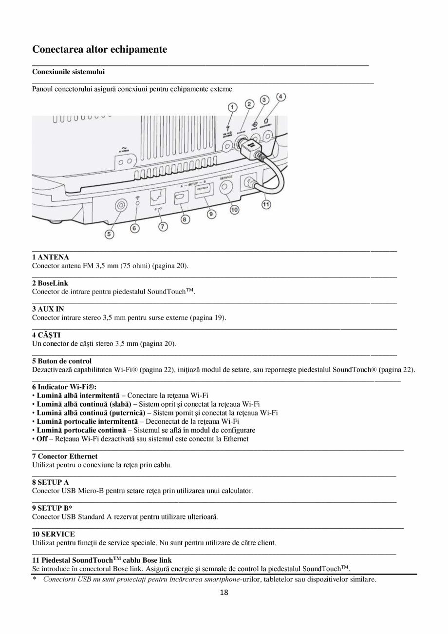 Pagina 18 - Sistem audio wave BOSE Wave SoundTouch IV Instructiuni montaj, utilizare Romana ...