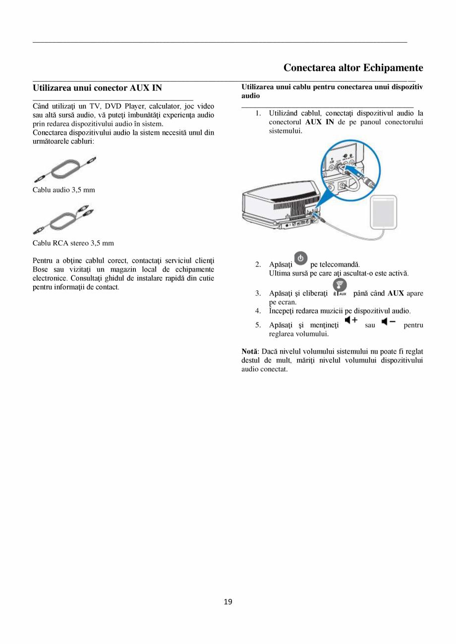 Pagina 19 - Sistem audio wave BOSE Wave SoundTouch IV Instructiuni montaj, utilizare Romana dare CD ...
