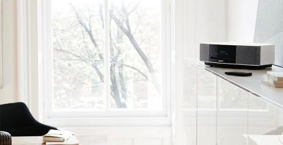 Sistem audio Wave Music System IV - alb, pe mobilier Wave Music System IV